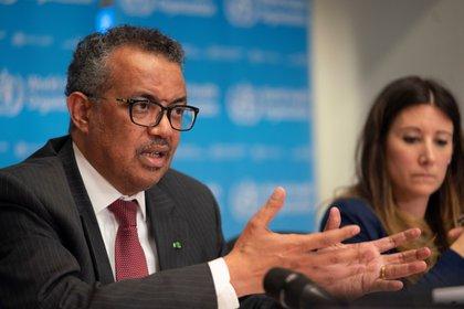 El director general de la Organización Mundial de la Salud (OMS), Tedros Adhanom Ghebreyesus, asiste a una conferencia de prensa sobre el brote de coronavirus (en una foto de archivo de Reuters)