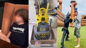 El festejo de cumpleaños de Lolo Tinelli, a puro Batman