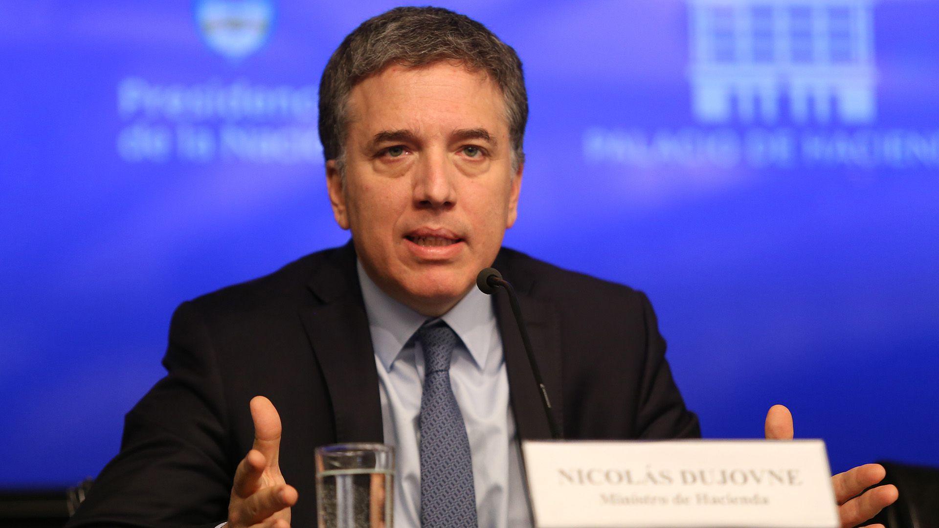 Nicolás Dujovne, cuando todavía era ministro de Mauricio Macri.