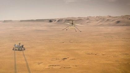 El helicóptero podrá expandir la exploración del robot desde el aire - NASA/JPL-Caltech/Handout via REUTERS.