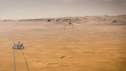 Las palas del Ingenuity Mars Helicopter están hechas de un núcleo de espuma de fibra de carbono liviana para proporcionar elevación en la delgada atmósfera de Marte (NASA)