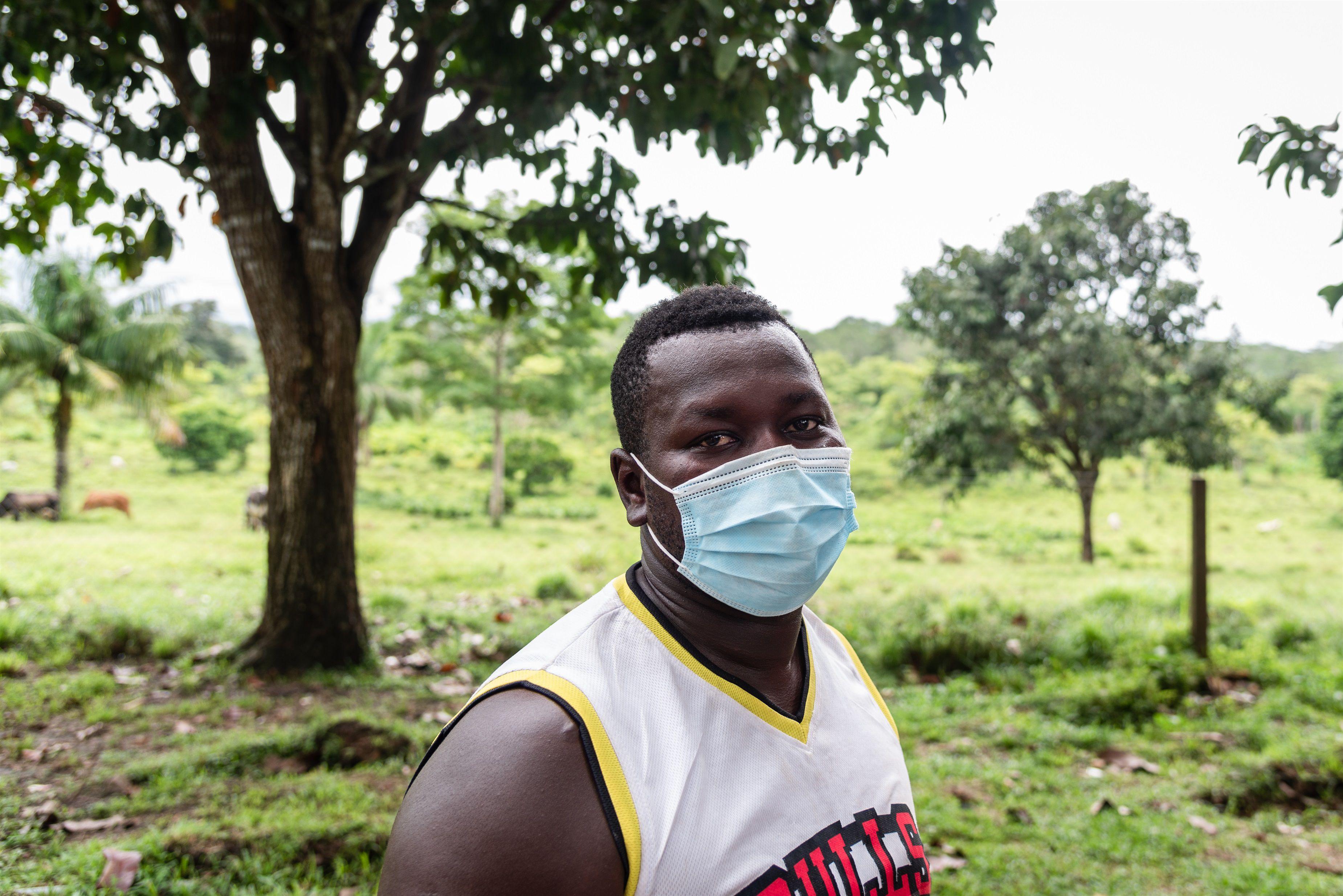 22-09-2021 Crispin 'Toby', migrante haitiano de 30 que cruzó la selva de Darién. POLITICA CENTROAMÉRICA PANAMÁ INTERNACIONAL LATINOAMÉRICA CRUZ ROJA