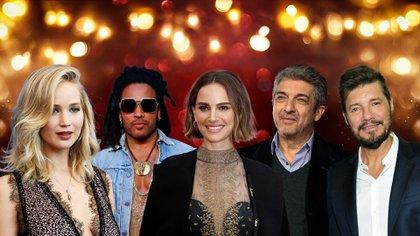 Jennifer Lawrence, Lenny Kravitz, Natalie Portman, Ricardo Darín y Marcelo Tinelli