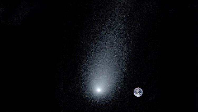 Impresionante imagen del cometa 21/Borisov y la Tierra en el fondo (Universidad de Yale)