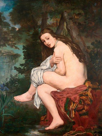 """""""La ninfa sorprendida"""" de Édouard Manet, en el MNBA"""