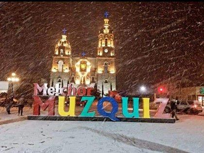 Los municipios afectados por la nieve fueron Ocampo, Acuña, Múzquiz, Zaragoza, San Buenaventura, Sabinas, Progreso, Piedras Negras y Nava. (Foto: Twitter/@juantorresflore)