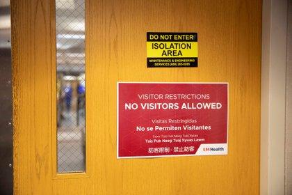 Área restringida de un hospital de Wisconsin (Reuters)