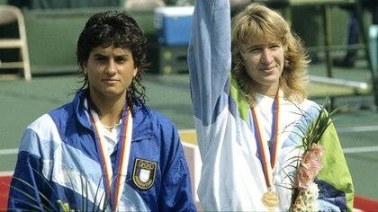 Gabriela Sabatini obtuvo la medalla de plata en Seúl 88