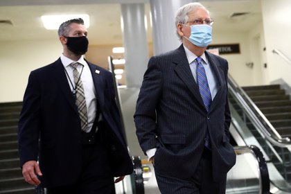 El líder de la mayoría republicana en el Senado Mitch McConnell (REUTERS/Hannah McKay)