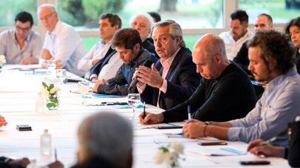 La reunión que encabezó el Presidente se llevó a cabo en la Quinta de Olivos