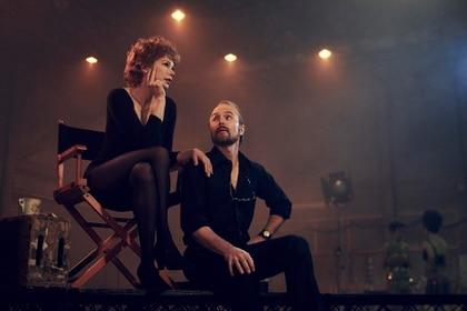 "Michelle Williams como Gwen Verdon y Sam Rockwell como Bob Fosse en la serie ""Fosse/Verdon"""