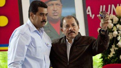 Nicolás Maduro y Daniel Ortega (EFE)