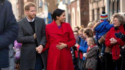 Meghan Markle y el príncipe Harry fueron padres de un niño el 6 de mayo de 2019 (AP)