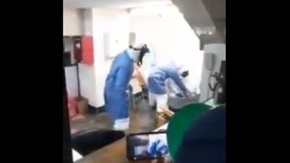 Las autoridades sanitizaron la estación para evitar posibles contagios (Foto: captura de pantalla)