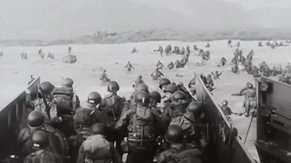 Una imagen documental del Día D,el 6 de junio de 1944
