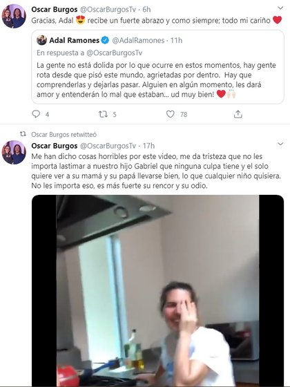 Burgos lamentó hace semanas los ataques que recibió por mostrar que se lleva bien con Panini