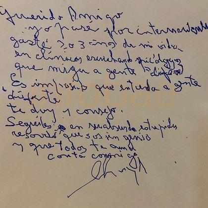 La carta, a la que Infobae accedió en exclusiva