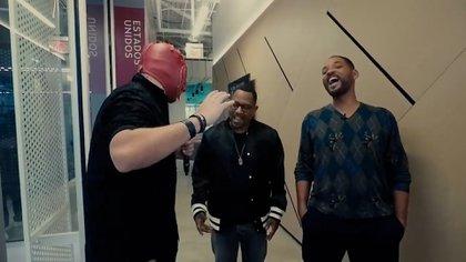 Will Smith y Martin Lawrence protagonizaron un cómico momento durante su encuentro con el Escorpión Dorado. (Foto: captura de pantalla)