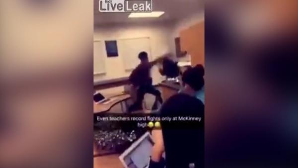 La pelea entre los alumnos