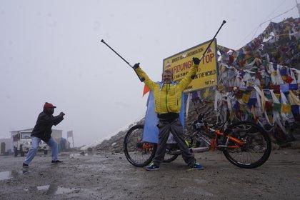 Tras once días de una increíble y exigente travesía por el Himalaya, Maggi llegó a la cima (Foto: gentileza Jean Maggi)