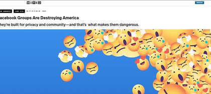 """""""Los grupos de Facebook están destruyendo EEUU"""", Wire"""
