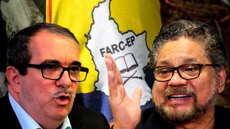 "Rodrigo Londoño Echeverri (""Timochenko"") y Luciano Marín Arango (""Iván Márquez"")"