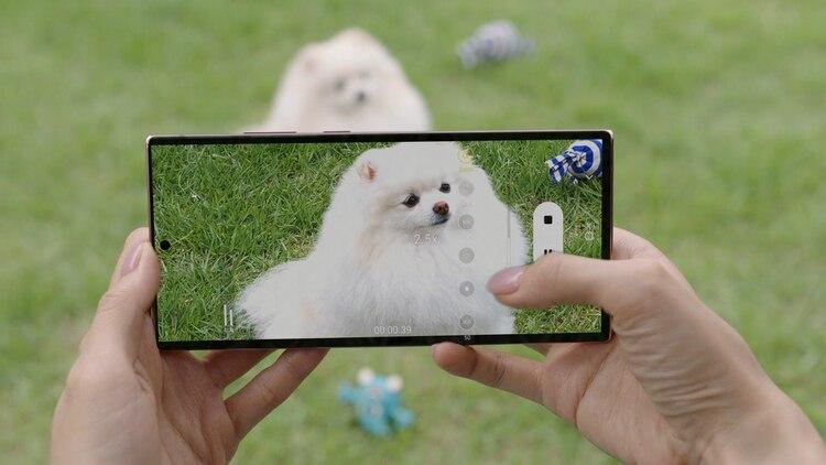 El zoom óptico híbrido del Galaxy Note20 combina un sensor de imagen de alta resolución y una lente.
