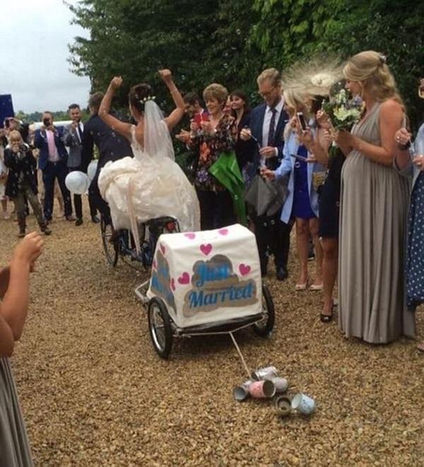 La pareja se casó en septiembre de 2016