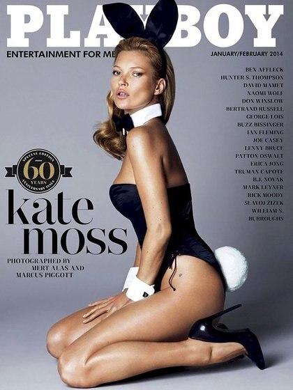 Kate Moss, otra las favoritas de Hefner para las portadas