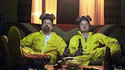 "Walter White (Cranston) y Jesse Pinkman (Aaron Paul) en ""Breaking Bad"""
