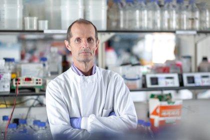 Robin Shattock, en su laboratorio en el Imperial College London, Londres