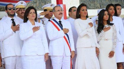 Danilo Medina al asumir su segundo mandato en 2016 (@PresidenciaRD)