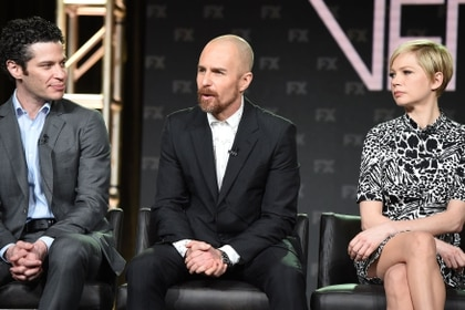 Thomas Kail, Sam Rockwell y Michelle Williams (Shutterstock)