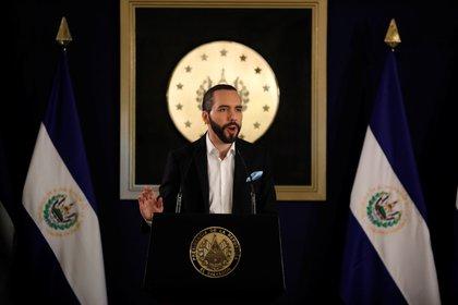 El presidente de El Salvador, Nayib Bukele, habla durante una conferencia de prensa en San Salvador, El Salvador, el 1 de noviembre de 2019. REUTERS/Jose Cabezas