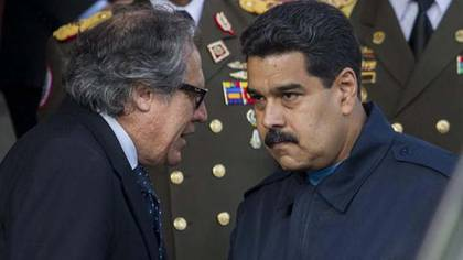 Luis Almagro y Nicolás Maduro