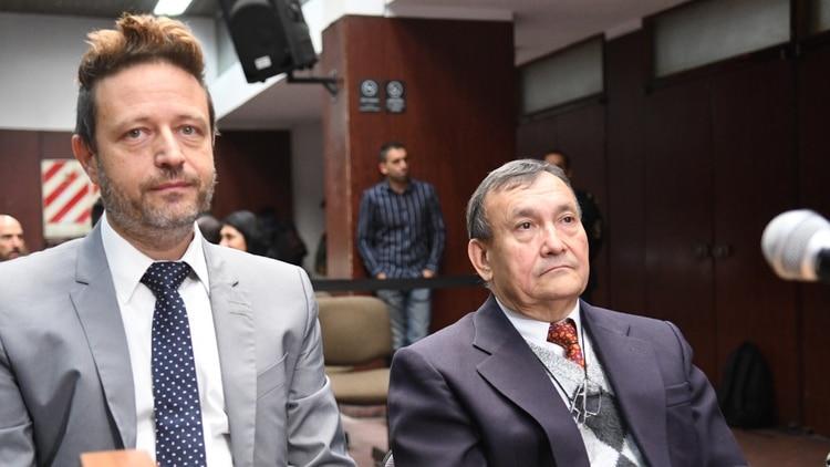 Villar Cataldo y su abogado Diego Szpigiel en la audiencia de hoy (Fabián Ramella)