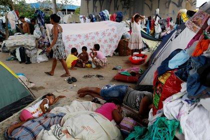 Un campamento de venezolanos en Brasil (Reuters)