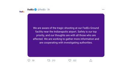 El comunicado de FedEx