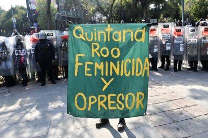 Su caso ha generado múltiples protestas no sólo en Cancún, sino también en otras entidades del país.(Foto: Pedro Pardo/AFP)