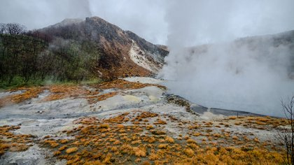 """El valle de Jigoku o """"valle del infierno"""" (Getty)"""