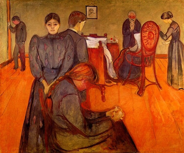 """""""Muerte en la habitación"""", de Munch"""