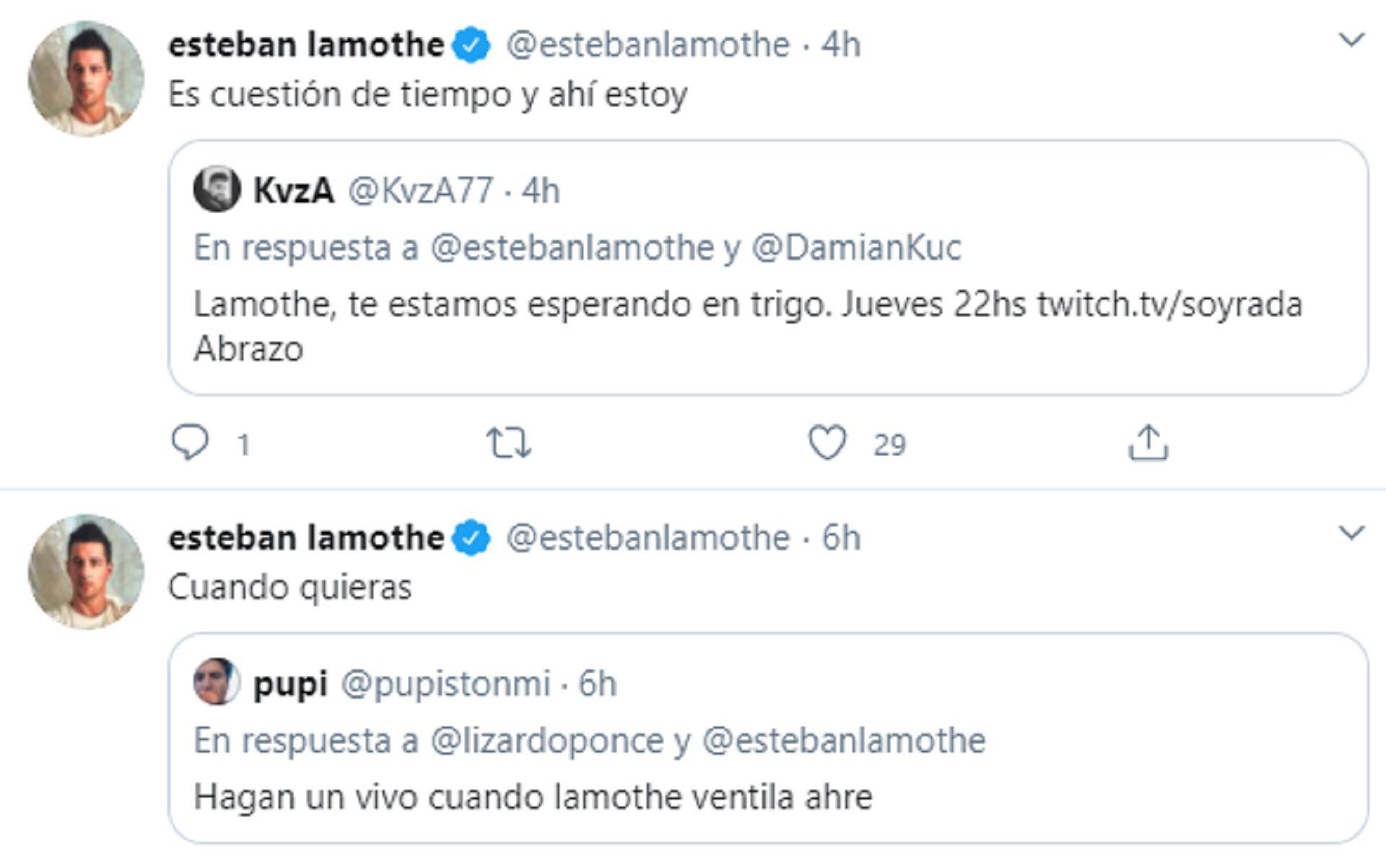 Los tuits de Esteban Lamothe