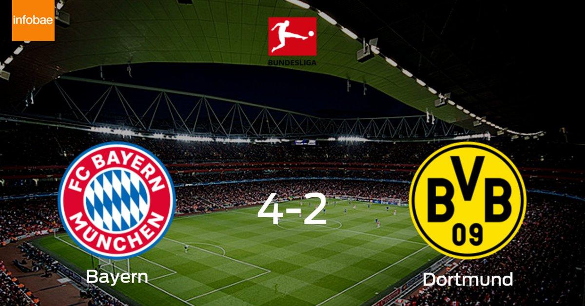 Bayern de Múnich se impone por 4-2 a Borussia Dortmund  - Infobae