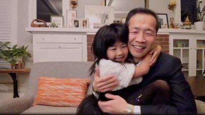 La conmovedora imagen de Chung dio la vuelta a las redes sociales (Foto: Reuters)