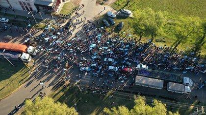 Protesta contra la intervención de Vicentin, en la localidad santafesina de Avellaneda.
