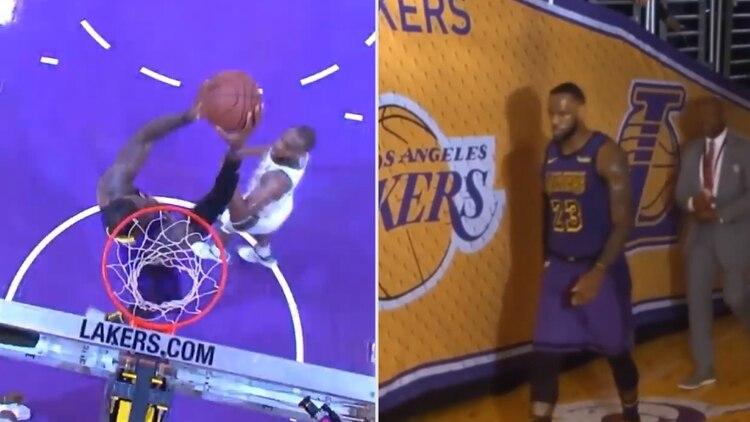 Las dos caras de LeBron James en una nueva derrota de los Lakers en la NBA   una volcada increíble y el fastidio del final e5f863be49d