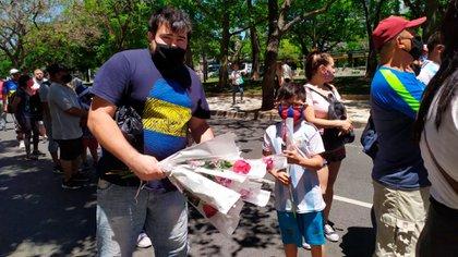 Jorge Bordón vendió más flores que en el Día de la Madre
