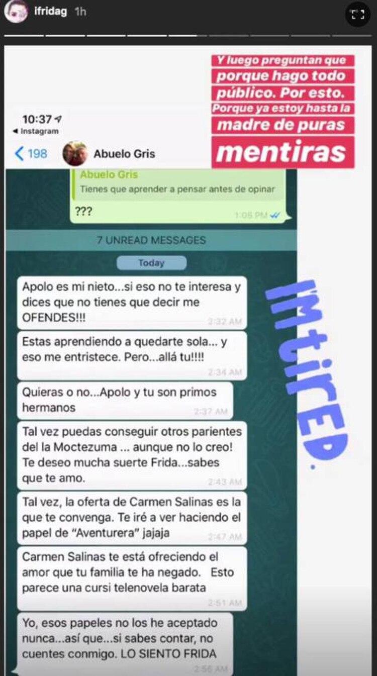 Frida Sofía vs. su familia (Foto: instagram)