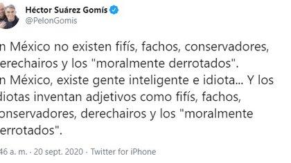 El mensaje de Suárez Gomís