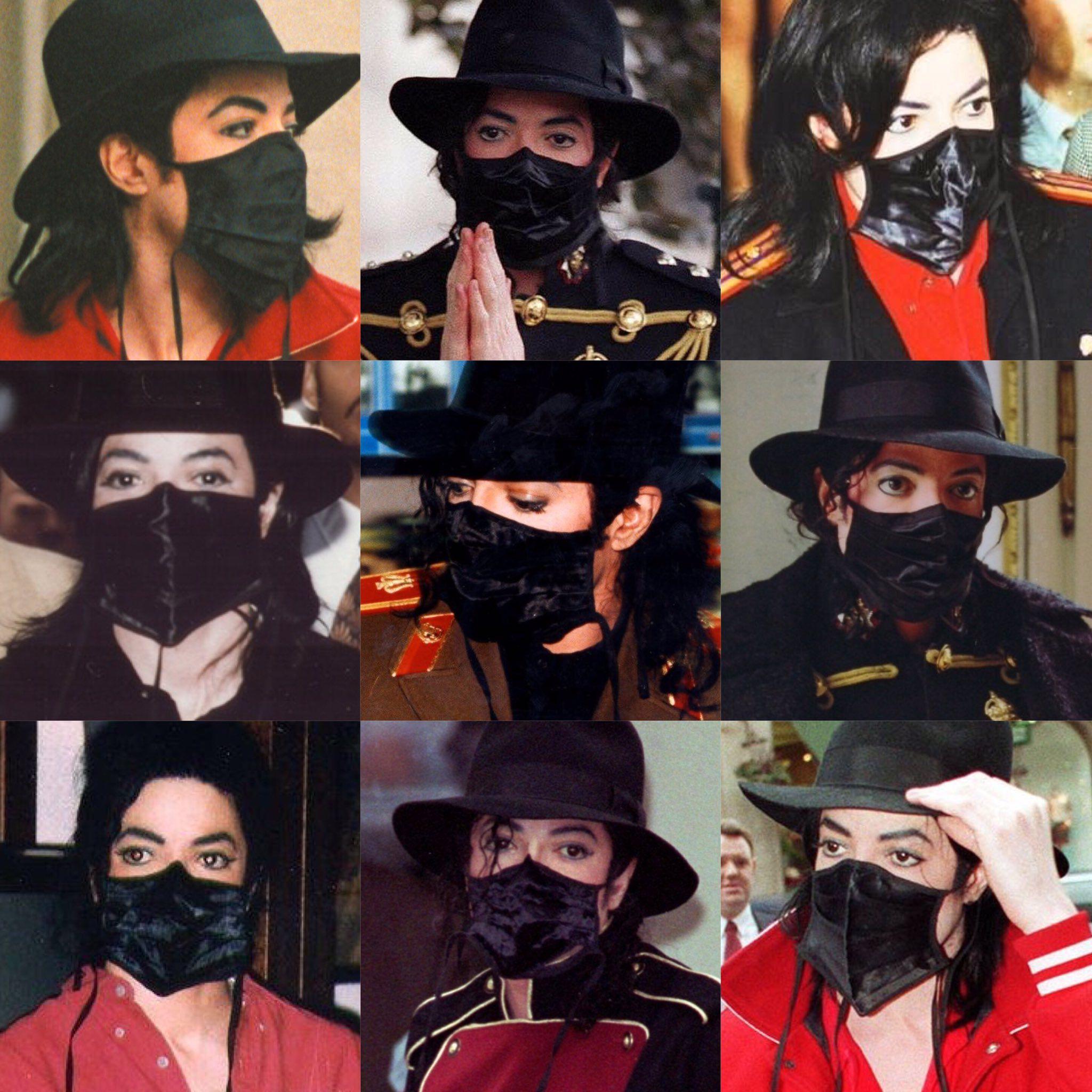 """El rey del pop era entusiasta de las mascarillas antes de que """"se pusiera de moda"""" (Foto: Twitter @bluexgangsta)"""